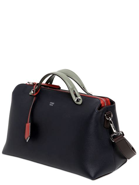 Fendi By The Way Tricolours lyst fendi large by the way leather bag in blue