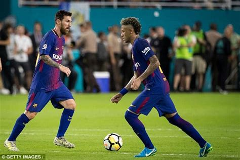 neymar leaves barcelona without its heir to lionel messi henry neymar should change sports to escape messi shadow