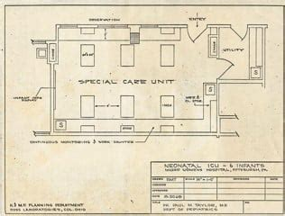icu floor plan 1969 25 club donates 1st neonatal intensive care unit