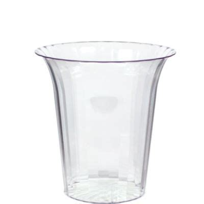 buffet plastic containers clear plastic flared cylinder container 40oz city