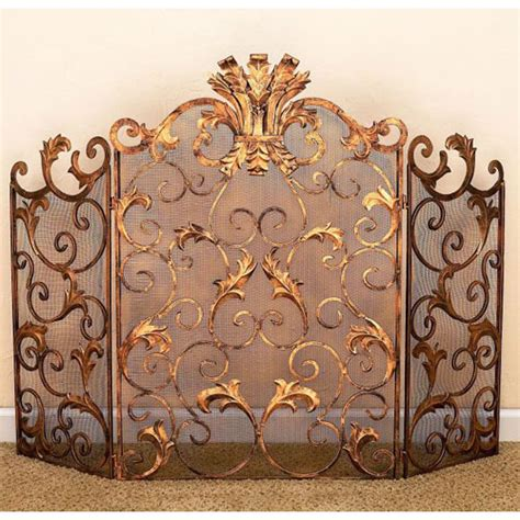 antique fireplace screens sale fireplace accessories gold fireplace screen antique