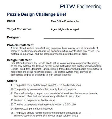 6 1 design matrix jocelyn s pltw portfolio puzzle cube portfolio
