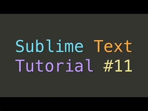 sublime text 3 theme tutorial learnwebcode youtube
