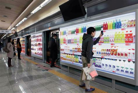 Popular Grocery Stores by Tesco Virtual Supermarket In A Subway Station