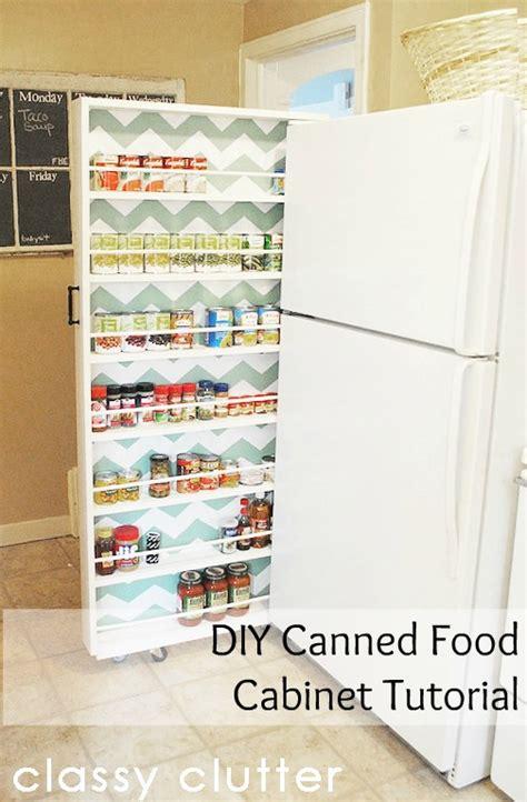 pull out storage diy diy canned food organizer