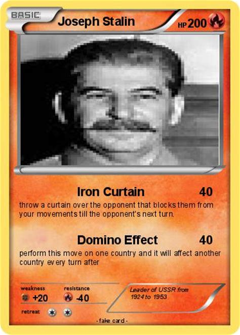 joseph stalin iron curtain pok 233 mon joseph stalin 52 52 iron curtain my pokemon card