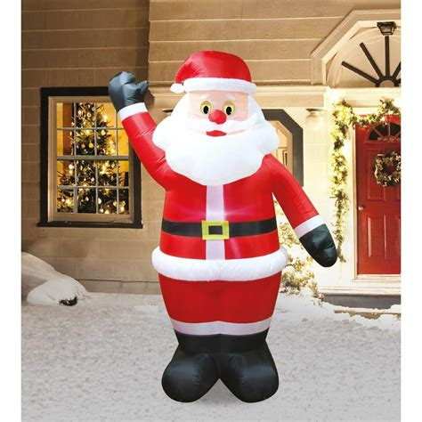 airflowz 7 ft animated blinker santa 07847