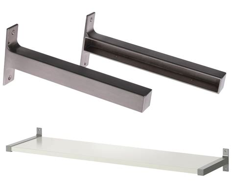 brackets for floating shelves ikea ekby bjarnum 11 inch brackets for floating shelves aluminum set of 2 ebay