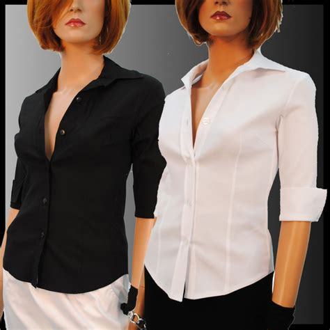 Blouse 7 8 Sleeves black shirt blouse stretch fitted with 3 4 sleeve 8 10 12 14 n1 ebay