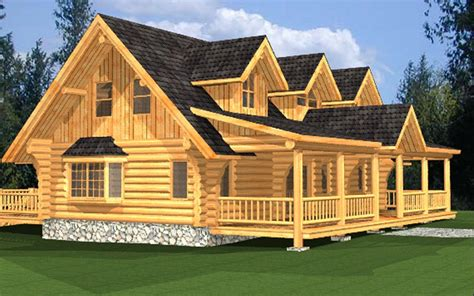 log home package macaffrey plans designs international