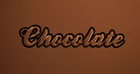 Psd Chocolate Text Effect   Photoshop Text Effects   Pixeden