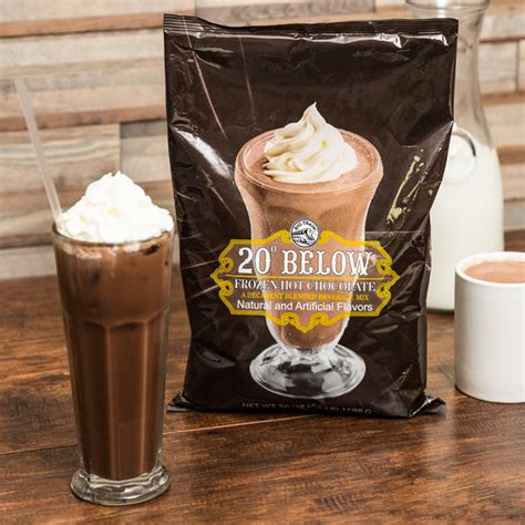 big train hot chocolate big train 20 below frozen hot chocolate mix 3 5 lb