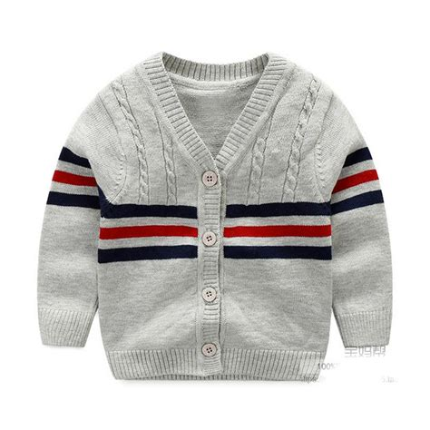 Sweater Boys cotton sweater baby fashion infant clothes button boys