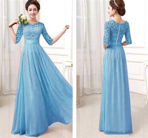 Gaun Import dress gaun import biru 2016 model terbaru jual