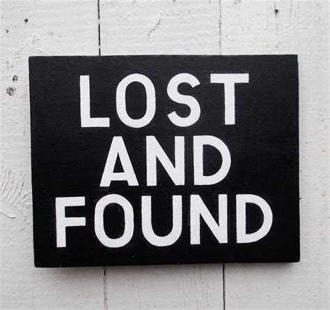 lost and found lost and found hand painted sign on wood