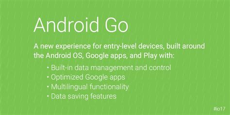go android announces android go for low end devices emerging markets