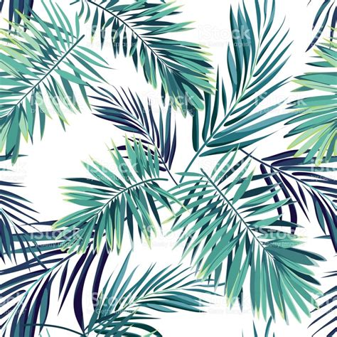 tropical pattern background free tropical background with jungle plants seamless vector
