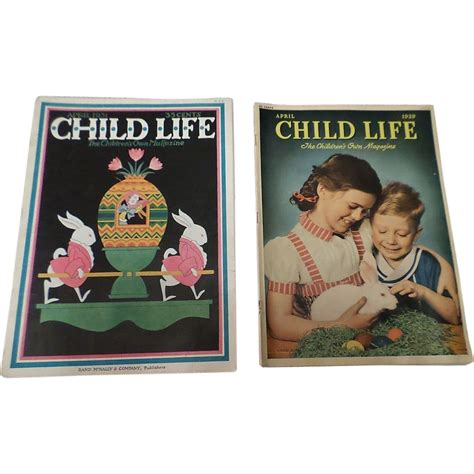 Magazine Set easter 1930 s april child magazine set of two from cheriescollectibletreasures on ruby