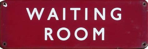 waiting room signs railwayana auctions uk enamel signs