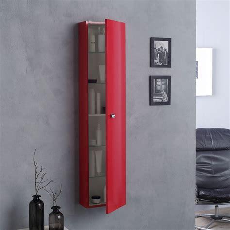 colonna per bagno colonna pensile da bagno con anta laccata rosso kv store