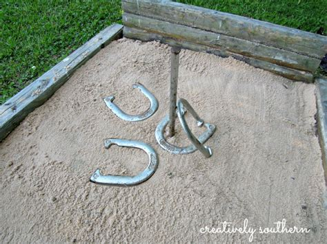 backyard horseshoes 15 of the best backyard diy projects the craftiest couple