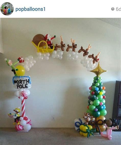 91 best christmas holiday balloondecor images on pinterest