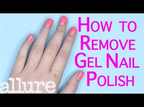 how to remove gel nail