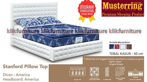 Americana Set Kasur Bed Richmond 100 X 200 stanford musterring america style springbed toko