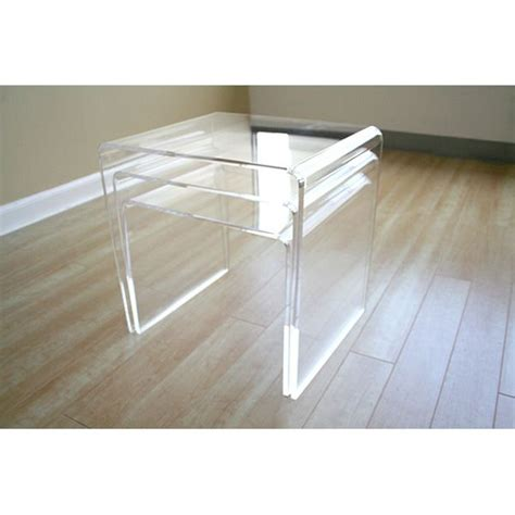 Clear Nesting Tables by Clear Acrylic Nesting Tables Dcg Stores