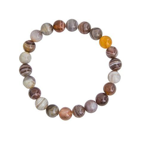 Agate Bracelet bracelet agate botswana pierres boules 8mm min 233 raux