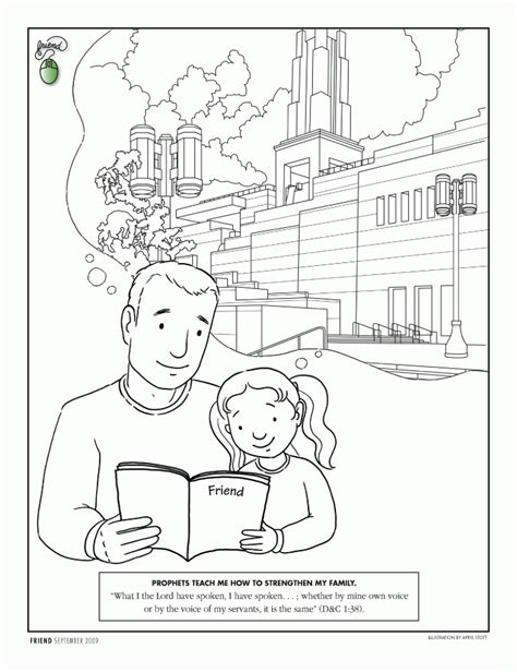 lds church coloring pages coloring home