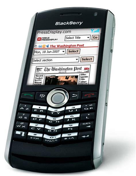 mobile bb pressdisplay now runs on blackberry phones