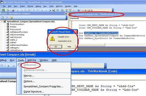 Spreadsheet Errors by Spreadsheet Compare Bugs 29 Compile Error In Excel