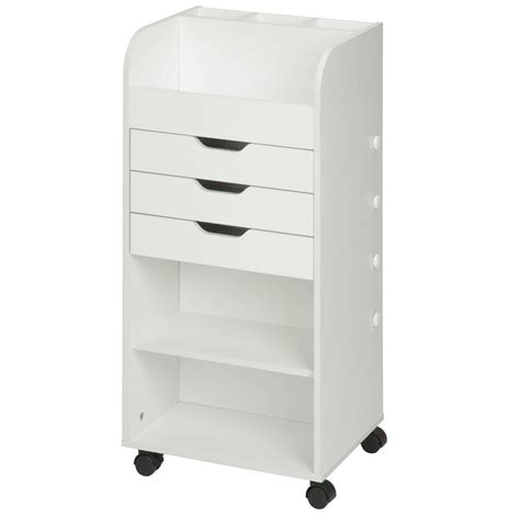 Storage Carts With Drawers And Wheels by Buddy Products 25 7 8 In W Low Profile File Cart