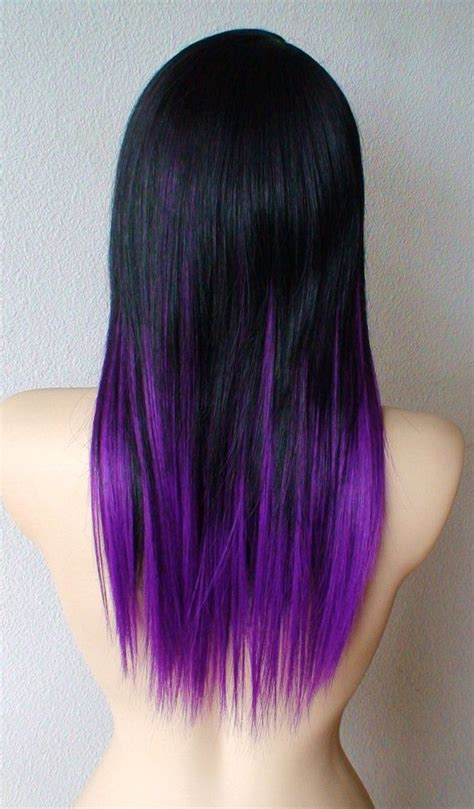 purple rinse hair dye for dark hair relaxer black and purple ombre next time i dye my hair this is