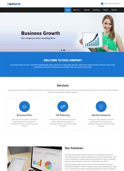 Business Responsive Html Web Template Free Download Information Web Template