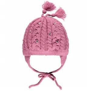 bonnet en tricot torsad 233 avec attache oreilles mes