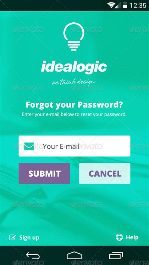 forgot my android password idealogic android l mobile ui kit by 2little peaches graphicriver