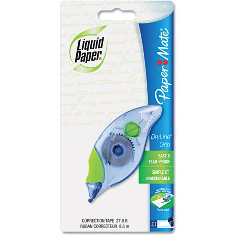 How To Make Liquid Paper - liquid paper dryline grip recycled correction 2pk