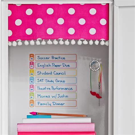 locker curtains pink dottie pom pom locker curtains pbteen