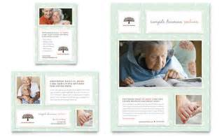 senior care services flyer amp ad template design