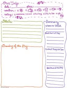 Trip Journal Template by Bnute Productions Free Printable Trip Journal Page