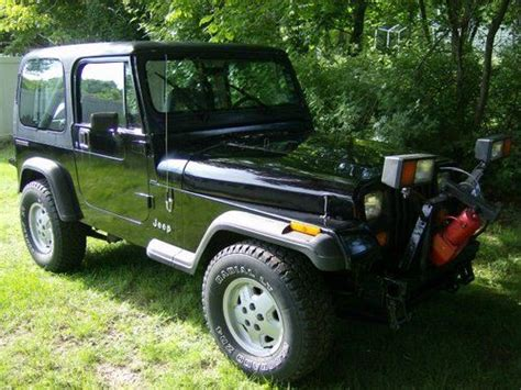Jeep With Plow For Sale Buy Used 1990 Jeep Wrangler With Plow Well Maintained