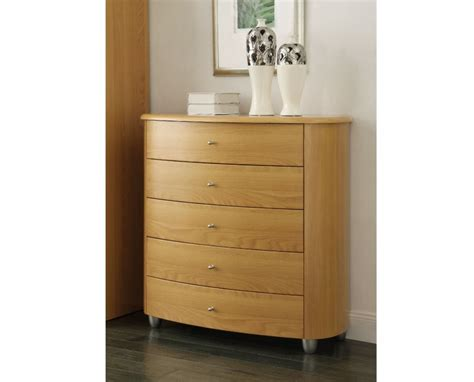 Beech Chest Drawers by Birlea Aztec Beech 5 Drawer Chest By Birlea