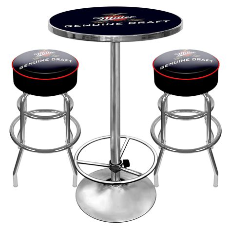 bar stools sports trademark global ultimate miller genuine draft combo 2