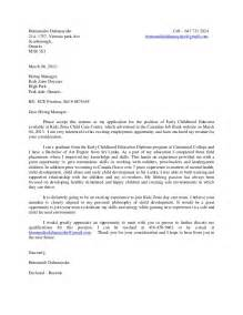 Child Care Cover Letter Sles by Cover Letter