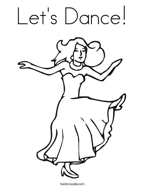 coloring pages dancing animals let s dance coloring page twisty noodle