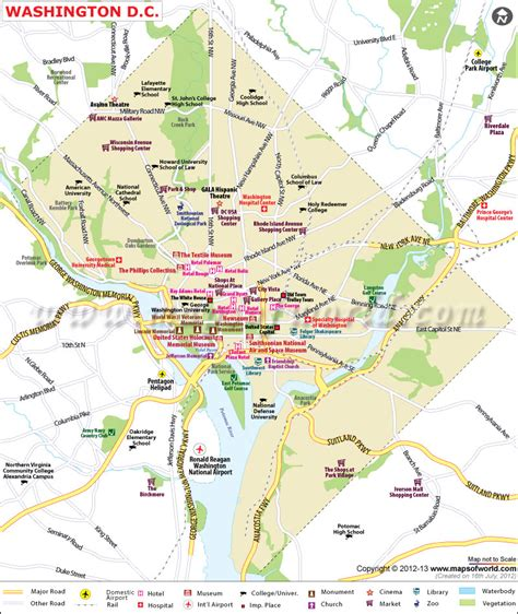 dc usa map washington dc map capital of the united states