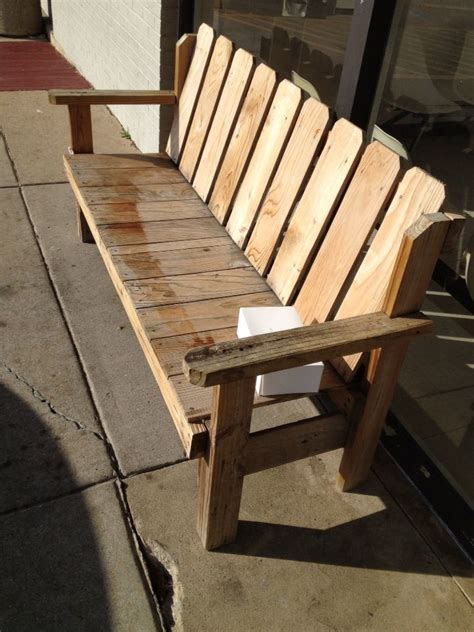 pallet bench pinterest nice bench from pallets woodcraft ideas pinterest