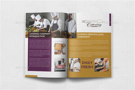 catering brochure template 20 pages by owpictures